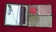 Ancienne boite a maquillage ART DECO poudrier Vinatge make up box