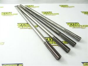 """LOT OF 4 HSS EXTRA LENGTH 2MT CHUCKING REAMERS 3/4"""" DIA CLEVELAND YANKEE"""
