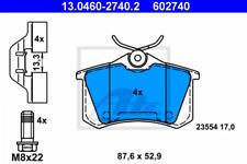 Bremsbelagsatz, Scheibenbremse für Bremsanlage Hinterachse ATE 13.0460-2740.2