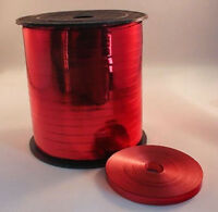 5mm Curling Ribbon Red Metallic 10m - 100m Perfect for Balloons & Gift Wrap