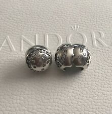 Genuine Pandora Sterling Silver Twinkling Night Clip X 2 - 791386CZ