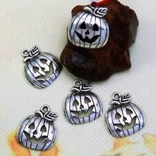 10 pcs Halloween Pumpkin Beads Tibetan Silver Charms Pendant DIY Bracelet Gifts