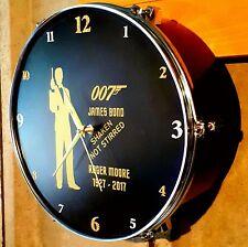 James Bond 007--- Roger Moore Tribute Drum Clock.