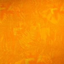 Fabulous Orange Tone-on-Tone, Blender, Fern Imprints, Cotton Fabric Per 1/2 Yard