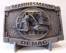Mannesmann DEMAG H485 Front Power Shovel Mining Excavator Pewter Belt Buckle