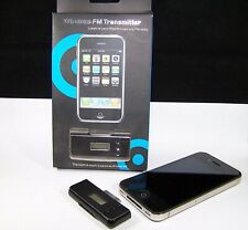 Wireless FM Transmitter iPhone iPod touch nano mini 30 PIN in schwarz L108