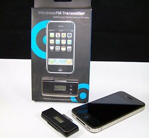 Wireless FM Transmitter iPhone iPod Touch Nano Mini 30 Pin in Black L108