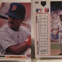 1991 Upper Deck ONE OF A KIND ERROR CARD, Nelson Liriano & Ricky Jordan