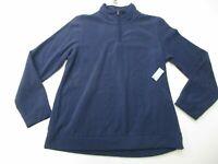 OLD NAVY Fleece Jacket Women's Size M 1/4 Zip Pull Over Navy Blue