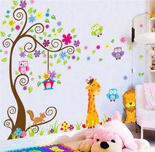 DIY Giraffe Owl Tree Lion Wall Sticker Art Vinyl Decal Baby Nursery Kids Room