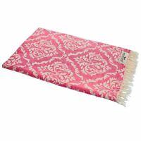 Hamamtuch BAROCK pink Strandtuch Pareo Saunatuch 90x175 cm 100% Baumwolle