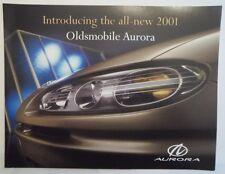 Oldsmobile Aurora Orig 2001 USA MKT CATÁLOGO FOLLETO de ventas