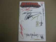 DEADPOOL # 1 - BLANK VARIANT - SIGNED BY MCFARLANE, CAMPBELL & 8 OTHERS - VF/NM