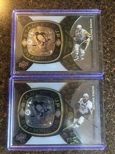 Sidney Crosby & Mario Lemieux Greats 11/12 Black Diamond Championship Rings