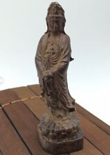 sandalwood carved Buddhism angel meditation Chinese folk manual sculpture