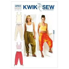 Kwik Sew Sewing Pattern MISSES'S Harem Pants Pantaloni & Top Taglie XS-XL k3701