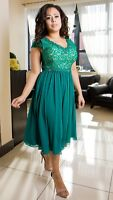 Elegant Ladies Wedding Formal Party Evening Womens Designer Dress UK Size 8 - 22