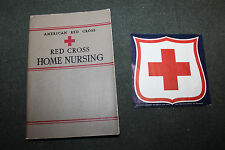Original WW2 American Red Cross Home Nursing Textbook 1942 d. w/R.C.Window Decal