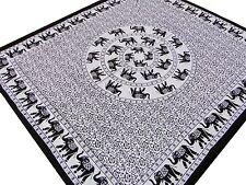 Éléphants indiens Couvre-lit Mandala Jeté de lit Tenture Batik Inde Hippie R2
