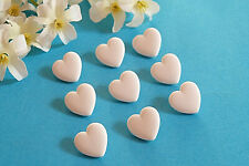 """1303B/Charming Buttons """" Small Heart """" Baby Child White Ép. 1970/80"""