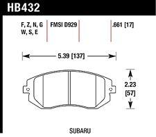 Hawk HB432F.661 HPS Street Front Brake Pads for 03-05, 08-14 Subaru Impreza WRX