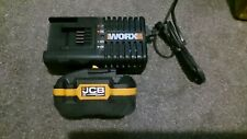 jcb/worx 3.0ah battery and fast charger