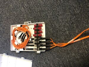 Molex Compact Wall Mount 8 Port with 8-1 meter Black Box fiber optic cables