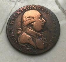1792 Great Britain 1/2 Half Penny Conder Token - John Wilkison Iron Master