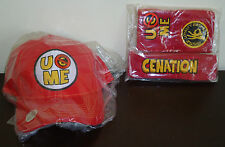 WWE AUTHENTIC John Cena Red U Can't See Me Baseball Hat Headband Wristband Set