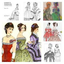 Vintage Coloring Books for Adults Girls Women Fashion Art Colors Stress Relief