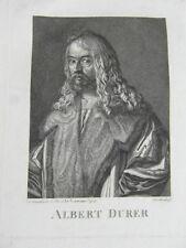 ALBERT (Albrecht) DURER Gravure Ancienne Johann ROTTENHAMMER Tirage XVIIIe