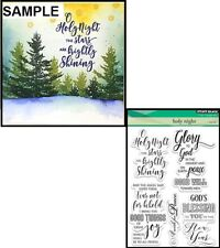 Penny Black Inc 30-383 HOLY NIGHT Clear Stamp Set Christmas Holidays