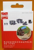 Busch 7799 Mini Ausgestaltungs Set H0 Baggerschaufeln Scale 1 87 NEU OVP