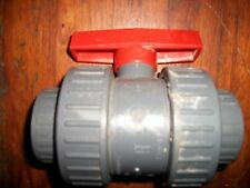 "FOUR [4] BRAND NEW COLONIAL PVC 1-1/2"" 200 PSI FULLBLOCK II WATER SHUTOFF VALVES"