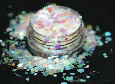 Beautiful Glitter Mix Nail Art Pearl Confetti For Acrylic &Gel Application
