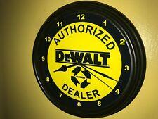 DeWalt Tools Saw Wood Working AuthDealer Garage Advertising Wall Clock Sign