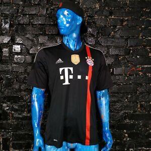 .Bayern Munich Jersey Third shirt 2014 - 2015 Black Adidas S86758 Mens Size XL
