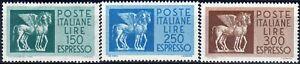1968 italia repubblica Espressi Stelle cavalli alati vignette ridotte
