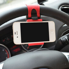 Universal Car Steering Wheel Mount Phone Holder for Iphone 5 5S 4 Samsung HTC