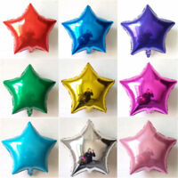 5/10pcs Five-pointed Star Foil Helium Balloons Birthday Wedding Party Decoration