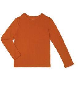 Wonder Nation Boys Long Sleeve Kid Tough T-Shirt Size LG (10-12), ORANGE **NWT**