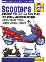 Scooters: Daelim, Honda, Kymco, Piaggio, Vespa, Yamaha 50cc-250cc