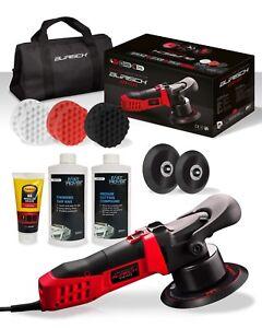 BURISCH HDR2500 DA Polisher + Foam Compounding Pads + Compounds / Wax + kit bag