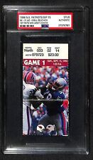1996 NE PATRIOTS BILL BELICHICK 1ST PATS WIN AS ASST COACH TICKET PSA WOW RARE!!