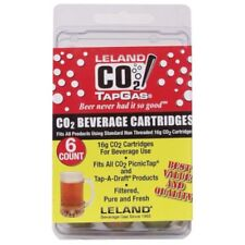 (6) 16 Gram Unthreaded Co2 Cartridges For Ukeg Growlerwerks 128 oz Beer Brewing