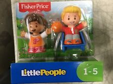 Fisher Price Little People Girl/boy In Wheelchair figures *NEW* q1