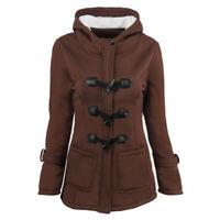 Women Trench Parka Hooded Coat Jacket Outwear Winter Warm Long Overcoat Hoodies