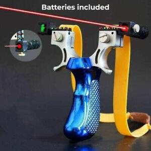 Blue Slingshot Powerful Hunting  Catapult High Velocity Laser Sight