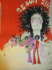 Vintage ; Projet Affiche spectacle; Original;  gouache; 55x75cm ; seventies