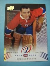 2008-09 UD Montreal Canadiens 100th Anniversary Centennial # 33 Jacques Plante!